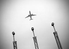 Leaving Denmark (saxild) Tags: nikon f75 nikkor 24mm28 24mm kodak tmax tmax400 135 24x36 plustek 7400 negativ scanner film analog aircraft airport cph copenhagen kastrup amager denamrk vignette bw black white