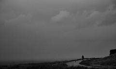 Walker (graemes83) Tags: pentax lyme park national trust alone walker walking figure bleak sky cloud vast path