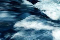 Flow (Karen_Chappell) Tags: water river blue flow flowing abstract longexposure newfoundland nfld bowringpark waterfordriver motion canada atlanticcanada avalonpeninsula liquid white