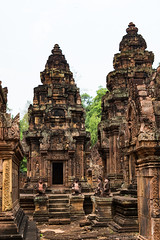 Banteay Srei Temple #3, Cambodia (Califdan) Tags: abandoned asia banteaysreitemple cambodia danhartfordphoto decay old ruin siemreaparea stonearchitecture templeshrine tower womenstemple exif:lens=28300mm camera:model=canoneos7dmarkii camera:make=canon geo:state=siemreap geo:location=banteaysreitemple exif:aperture=ƒ63 geo:city=siemreapangkorarea exif:isospeed=800 geo:lat=13598758166667 geo:country=cambodia exif:model=canoneos7dmarkii geo:lon=10396314866667 exif:focallength=33mm exif:make=canon 7d2r032147