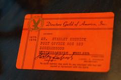 The Establishing Shot : STANLEY KUBRICK: THE EXHIBITION & THE DESIGN MUSEUM 2019 EXHIBITION PROGRAMME ANNOUNCEMENT - STANLEY KUBRICK'S DIRECTORS GUILD OF AMERICA DGA MEMBERSHIP CARD 1975 -1976 (THE YEAR BARRY LYNDON WAS RELEASED) - DESIGN MUSEUM, LONDON (Craig Grobler) Tags: ckc1ne craiggrobler craigcalder london film uk theestablishingshot wwwtheestablishingshotcom theestshot attheestshot thestanleykubrickexhibition stanleykubrick exhibition filmexhibition designmuseum sony sonyalpha77 alpha77 panel props filmprops filmmaking janharlan alanyentob deyansudjic stuartbrown bfi aliceblack justinmcgurick mars