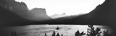 Last Rays (rubberducky_me) Tags: montana usa america lake mountains blackandwhite film bw monochrome linhoftechnorama panorama