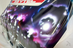 Darkside (Hancock right side detail) (theartistbeforeyou) Tags: refuz engine enginecover paint airbrush badger anthem155 artist aesosolart space skyline chicago city colorful stars purple blue red r 35 vtec automotiveart cars aesorolkings searstower hancock