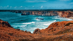 Portugal - Algarve Küste (haschkemichael) Tags: cliff sea coastline rockobject nature scenics landscape beach wave portugal famousplace nopeople outdoors water travel