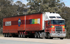 Red KENWORTHs (Jungle Jack Movements (ferroequinologist) all righ) Tags: bjbear red orange murphy yarraville tasker yamba lennons bowning nsw new wales australia hume highway freeway hp horsepower big rig haul freight cabover trucker drive transport carry delivery bulk lorry hgv wagon road nose semi trailer deliver cargo interstate articulated vehicle load freighter ship move roll motor engine power teamster truck tractor prime mover diesel injected driver cab cabin loud rumble beast wheel double b k k200 k104 k108