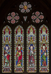 Melton Mowbray, St Mary's church, window (Jules & Jenny) Tags: stainedglasswindow meltonmowbray stmaryschurch