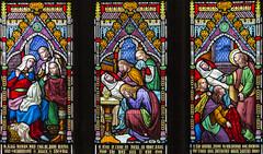 Melton Mowbray, St Mary's church, Vestry window detail (Jules & Jenny) Tags: meltonmowbray stmaryschurch stainedglasswindow