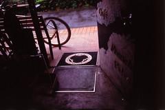 雨 (frenchvalve) Tags: 雨 自転車 玄関マット film analog 35mm slr filmcamera oldlens filmphotography