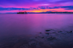 sunset 9379 (junjiaoyama) Tags: japan sunset sky light cloud weather landscape pink blue contrast color bright lake island water nature summer calm dusk serene reflection bluehour