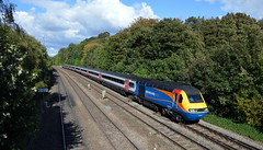 43059 approaches Chesterfield station with the 5B60 Neville Hill to Nottingham ecs, 23rd Sept 2018. (Dave Wragg) Tags: 43059 class43 hst emt eastmidlandstrains 5b60 chesterfield railway