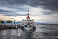 En croisière ! (audearnold) Tags: 2018 aout bateau lac lausanne ouchy port suisse