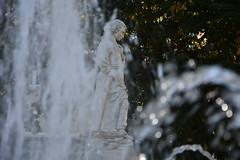 DSC_5811 (griecocathy) Tags: fontaine statut eau jet arbre feuille éclat transparence vert blanc crème