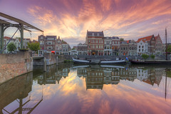 Rotterdam Delfshaven (Rob Kints (Robk1964)) Tags: canal aelbrechtskolk delfshaven grachtenpand harbor harbour nederland netherlands pelgrimskerk pilgrims rotterdam zakendragershuisje