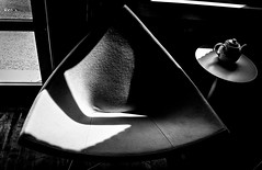 SEEING TRIANGLES (panache2620) Tags: monochrome bw blackandwhite contrast contrasty triangles fineart art photoartistry highlights stilllife chair canon eos urban city