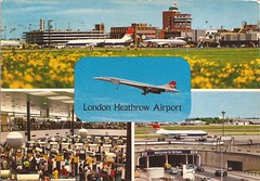 LHR17 (By Air, Land and Sea) Tags: airport postcard london lhr heathrow heathrowairport concorde britishairways aircraft airplane airline