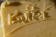 Butter! (Tristan_1) Tags: yellow engraving butter bfood macromondays