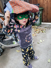 Hulk mask and backpack (quinn.anya) Tags: sam kindergartener hulk mask backpack supermario
