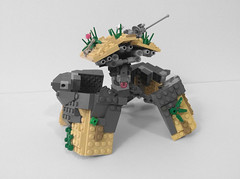 Argus: Heavy Camouflage Tank Strider (AlexParkDesigns) Tags: robot mecha mech bot sand claw tank army plant nature figure toy lego bionicle technic scene