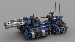 o11 hippocannon tank destroyer (V1)2 (demitriusgaouette9991) Tags: lego military army ldd armored powerful deadly bombgun cannon destroyer tank turret vehicle whitebackground