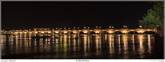 Le Pont de Pierre (MarcEnGalerie) Tags: nocturne voyage longexposure poselongue nightly lagaronne nocturnal fleuve bordeaux nouvelleaquitaine france fra