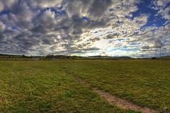 Terrain de foot (shoube) Tags: 88 vosges lorraine dommartinsurvraine paysage champs ciel nuage village fisheye 8mm samyang