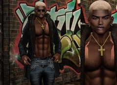 { David } ({ Max Hades }) Tags: head bento body aesthetic hair base necklace yes ears jacket jeans boots