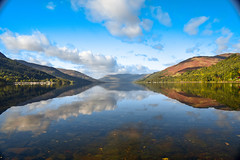 DSC_3468-2 (das24999) Tags: lochs scotland water still reflections hills nature landscape scenic scenery outdoors walk hiking peace bluesky clouds beauty