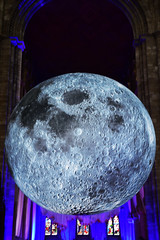The Moon on tour (Travis Pictures) Tags: peterborough peterboroughcathedral church churchofengland moon themoon stpeterscathedral moonontour cambridgeshire city citycentre eastanglia england britain uk exhibition inflatablemoon nikon d7200 photoshop