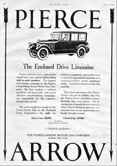 1923 Pierce-Arrow Enclosed Drive Limousine (aldenjewell) Tags: 1923 piercearrow enclosed drive limousine ad