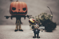 Halloween Hooligan (N.the.Kudzu) Tags: tabletop funkopop miniature minifig canondslr lensbabyburnside35 lightroom preset flash