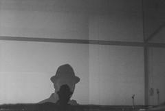 Self-portrait (Simon Wedege) Tags: selfportrait analogue analog portraits blackwhite blackandwhite minolta srt 101 film 35mm window oslo opera house norway norge