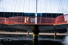 Under the Circle bridge (Maria Eklind) Tags: detkongeligebiibliotek cirkelbroen circlebridge copenhagen denmark library bro blackdiamond densortediamant bridge köpenhamn regionhovedstaden danmark dk