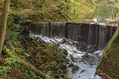 Autumnal Weir (andythomas390) Tags: leaves skiptonwoods nikon waterfall woods d7200 lichen 18200mm rocks