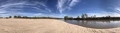 Arkansas River (ericleeker) Tags: panorama nature kansas arkansas sky sand water river