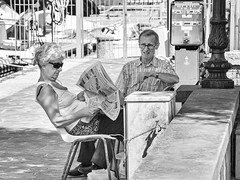 Cervia (nickriviera73) Tags: cervia italy pentax k20d blackandwhite black white people street newspaper