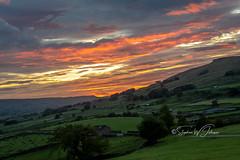 SJ1_1226 - The day breaking... (SWJuk) Tags: england unitedkingdom swjuk uk gb britain yorkshire northyorkshire yorkshiredales dales wensleydale hawes gayle fields farmland trees drystonewalls moors moorland 2018 sep2018 autumn nikon d7200 nikond7200 18300mm rawnef lightroomclassiccc landscape skyscape countryside dawn sunrise daybreak clouds colourful