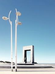 De Panne, Belgium ©Ariane Coerper (Stadtromantikerin) Tags: smartphonephotography coast northsea seafront seaside flanders depanne belgium monuments monumental surrealism surreal lamps