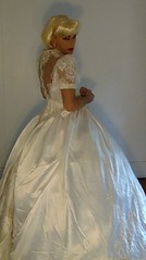 vintage Sweetheart wedding gown (Classic Dresser) Tags: vintage sweetheart wedding gown crinoline
