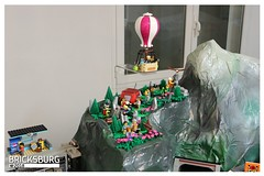 Mount Clutchmore (EVWEB) Tags: lego minifigures mount mountain rocks eagle clutchmore 60202 outdoor adventures bike tent hotair balloon dinghy wall log pile ramp wild tree signpost baby paddels camera lantern backpack climb climber