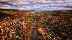 Alba (zombielandshark) Tags: mavick aerial drone trees colour color autumn river tweed peebles water clouds sky uk scotland