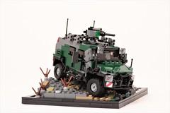 'Kitfox' AMPV (Corvin Stichert) Tags: lego rheinmetall ampv armored protected vehicle car kitfox fox offroad suv armor military