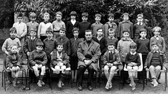 Class photo (theirhistory) Tags: boy child kid teacher school class form group pupils students jacket jumper trousers shoes wellies shorts wellingtons