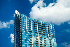 Sykes Tampa (crashmattb) Tags: modern architecture condos skypoint clouds sky downtown reflection tampa florida canon70d lightroom april 2018 blue skyscraper building