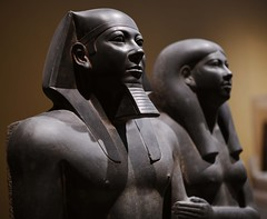 Menkaure and Khamerernebty (orientalizing) Tags: 4thdynasty 26thcenturybc boston cemetery egypt egyptian giza greywacke khamerernebty king menkaure museumoffinearts mycerinus newengland oldkingdom queen royalcouple usa valleytemple