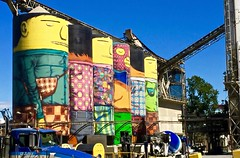 Giants (simonmgc) Tags: art cement pandolfo vancouver giants granville silo