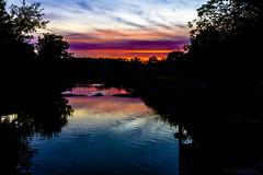 The fishladder at twilight (cstevens2) Tags: antwerpenprov avond belgique belgium belgië europe evening flanders flandre kasterlee tielen vlaanderen watermolenstraat sunset zonsondergang