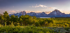 Summer Sunset on Grand Teton Range (Dan at ProPeak - Thanks for over 1.1M views!) Tags: albrightpeak america blue blueskies bluesky buckmountain clouds cloudveildome colors famousplace grandteton grandtetonnationalpark green internationallandmark jacksonlake mountmoran mountsaintjohn mountwoodring mountains nps nationalpark nature nezperce northamerica orange panorama red ridge rockchuckpeak rockymountains scenic shadowpeak spring staticpeak sunset symmetryspire teewinotmountain touristattraction traveldestination travelandtourism trees usa unitedstates water willowflatsoverlook wyoming yellow mountain