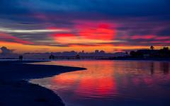 Fort Myers Beach Sunset (Will-Jensen-2020) Tags: sunset beautiful earth photography water reflect reflection fishingpier fishing fortmyersbeach fortmyers usa florida dslr d7200 nikon photographer beach color rays sun dusk pier gulf