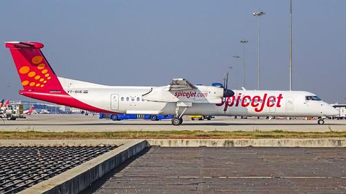"SpiceJet Bombardier Q400 VT-SUE ""Elaichi"" Bangalore (BLR/VOBL)"