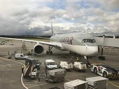 A7-ALV, Edinburgh, October 4th 2018 (Southsea_Matt) Tags: qatarairways a7alv airbus a350941 eg egph edi edinburgh turnhouse scotland unitedkingdom october 2018 autumn aviation transport aircraft airplane gate ramp qr030